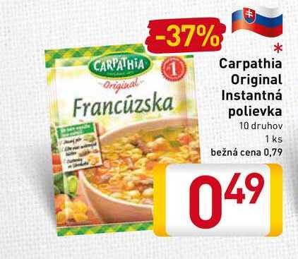Carpathia Original instantná polievka  10 druhov 1 ks