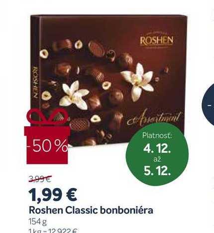 Roshen Classic bonboniéra, 154 g