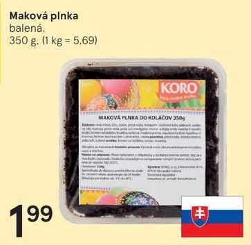 Maková plnka, 350 g