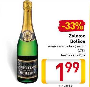 Zolotoe Bolšoe  0,75 l