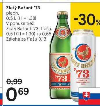 Zlatý Bažant '73, 0,5 l