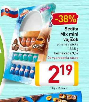 Sedita Mix mini vajíčok 136,5 g