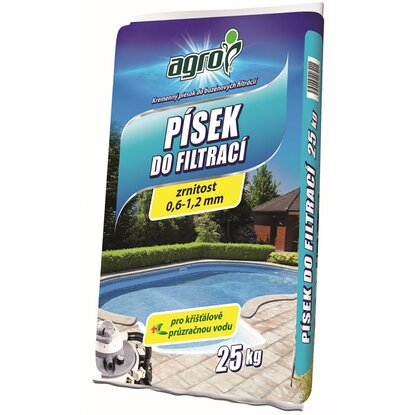 Piesok do bazénových filtrácií 0,5 mm - 1,2 mm 25 kg