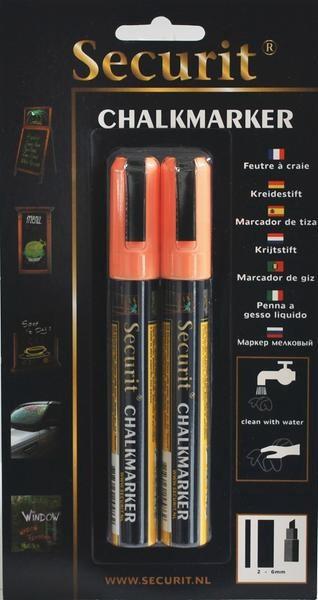 Popisovač 2-6mm oranžový 2ks