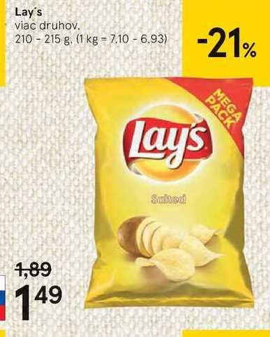 Lay's, 210 g