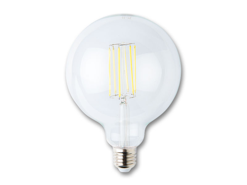 LED guľa s vláknom 8W-E27 studená