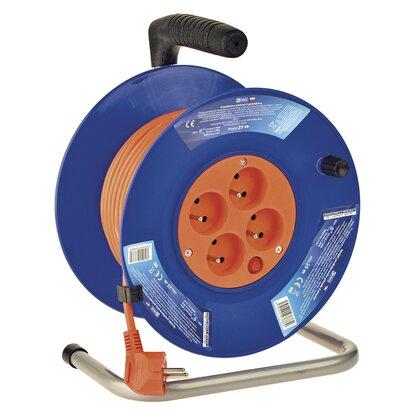 EMOS PVC predlžovací kábel na bubne - 4 zásuvky, 25 m, 1 mm2
