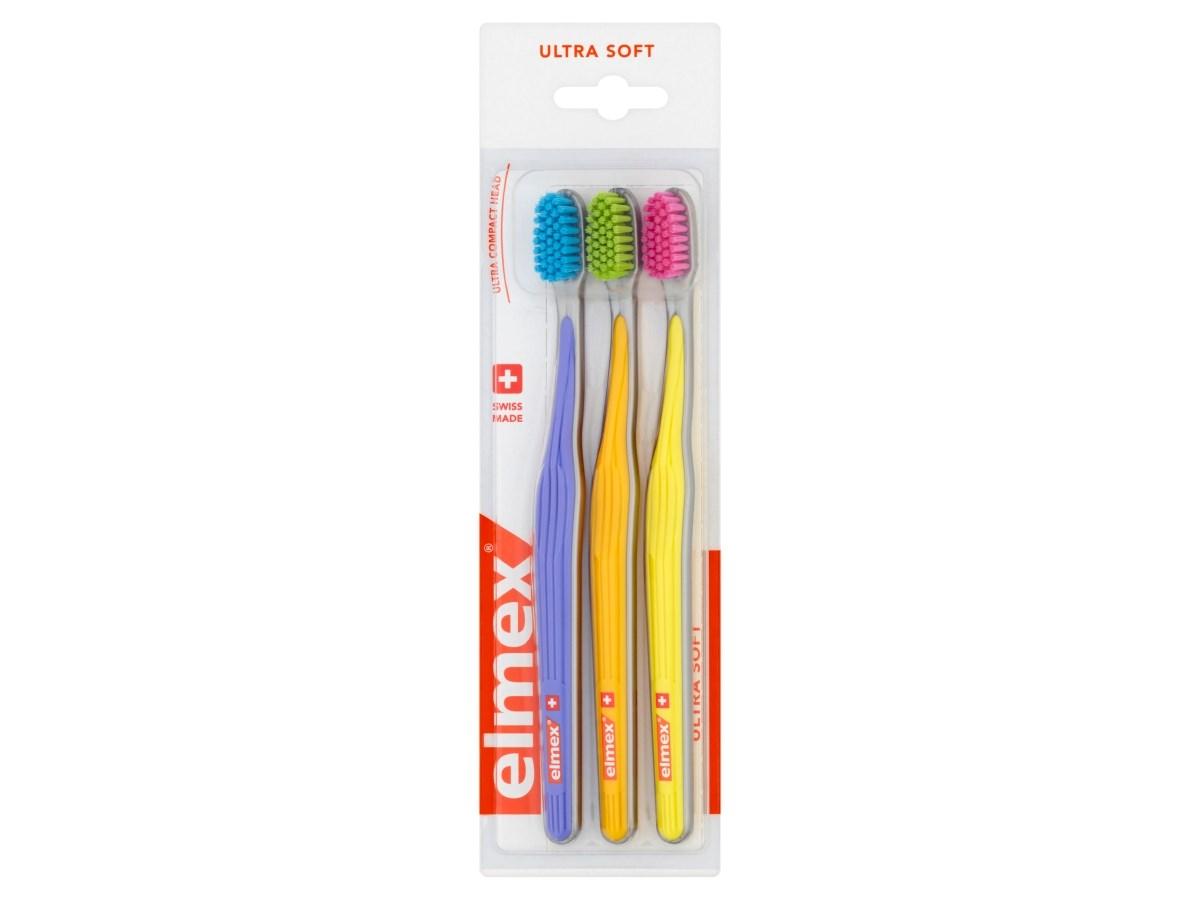 Elmex Ultra Soft 3-balenie zubná kefka 1x3 ks