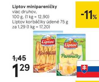 Liptov minipareničky, 100 g