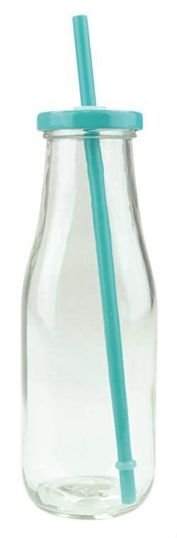 Fľaša na smoothie tyrkysová 230ml 1ks