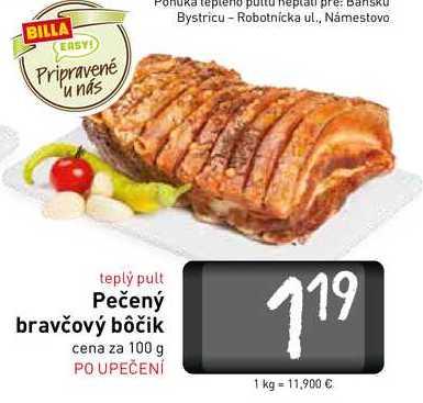 Pečený bravčový bôčik 100 g