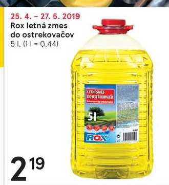 Rox letná zmes do ostrekovačov, 5 l