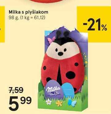 Milka s plyšiakom, 98 g