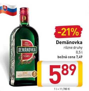Demänovka 0,5 l