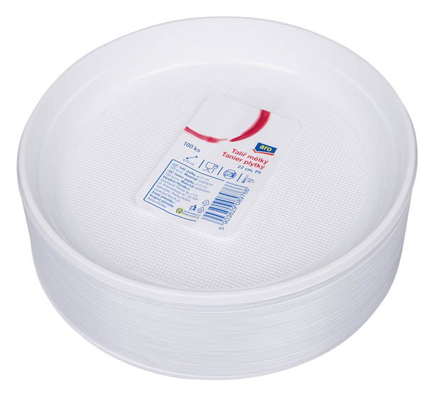 Tanier plytký plast 22cm ARO 100ks