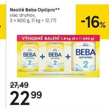Nestlé Beba Optipro, 3 x 600 g
