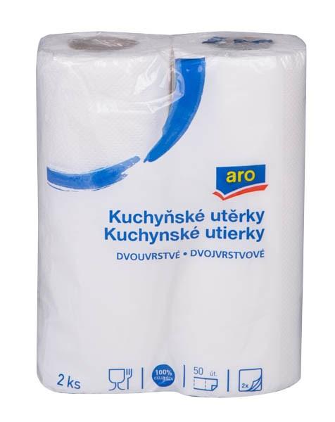 ARO Kuchynské utierky 2-vrstvové 12x2 ks