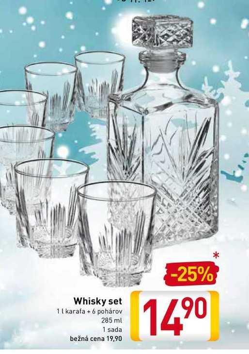Whisky set 1 karafa+6 pohárov 285 ml