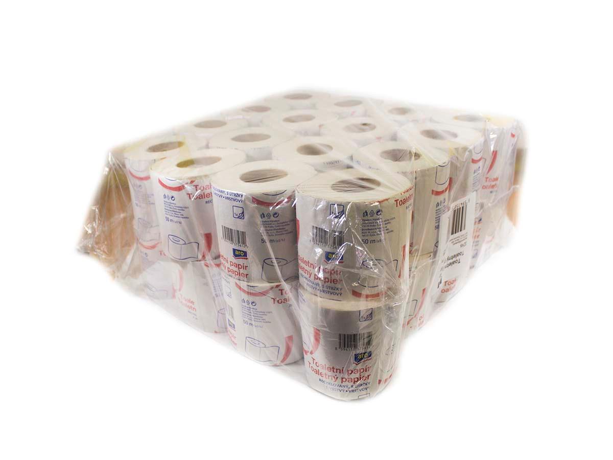 ARO Toaletný papier 1-vrstvový 50m 1x32ks
