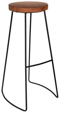 Stolička barová Teak/kov 79 cm 1 ks