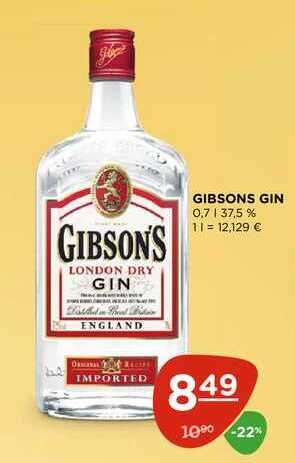 GIBSONS GIN 0,7 l