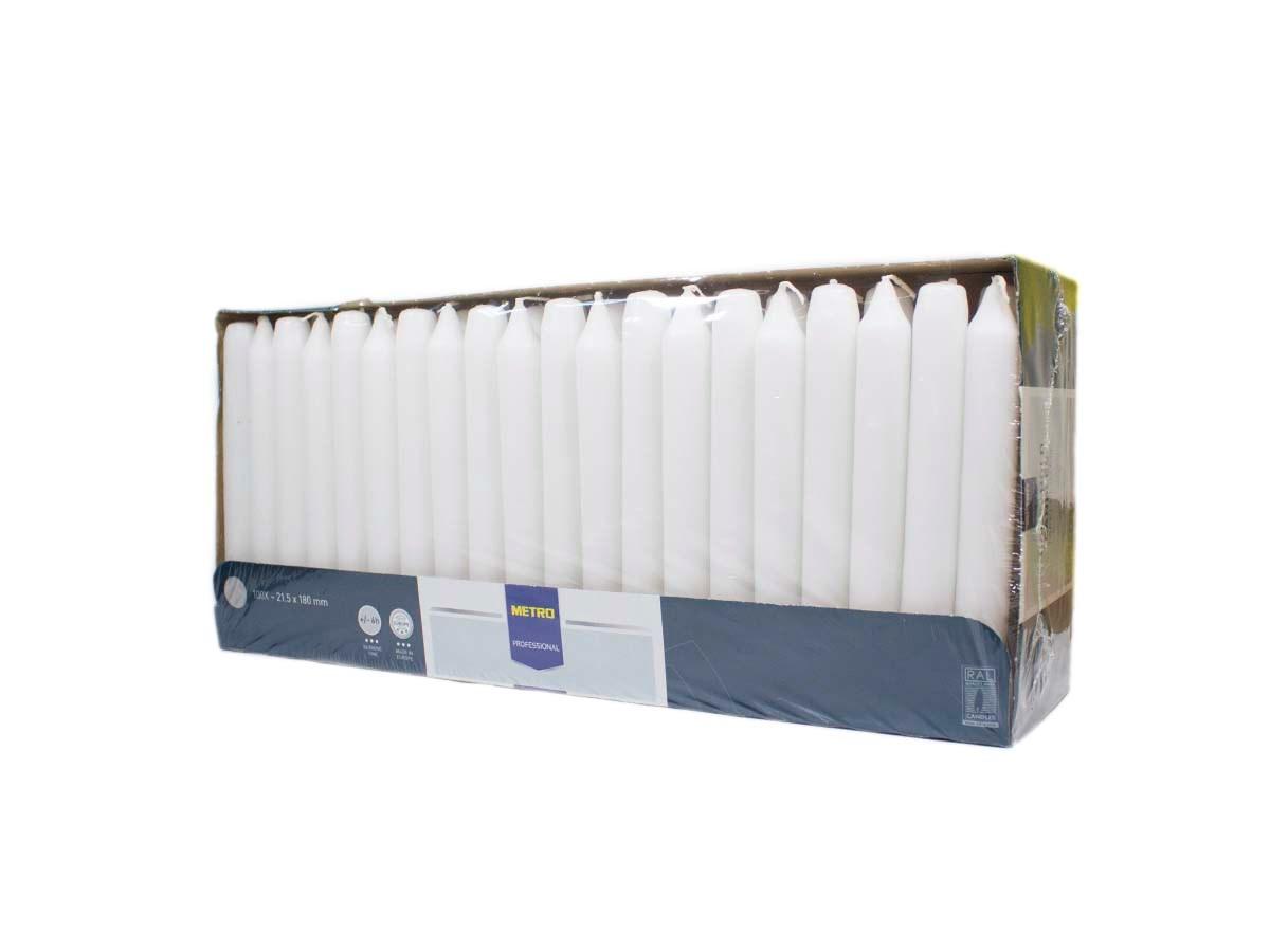 Sviečka biela 2x18cm Metro Professional 100ks