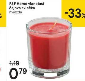 F&F Home vianočná čajová sviečka