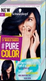 Farba na vlasy #Pure Color, 1.4 čučoriedková čierna