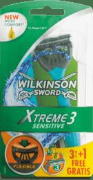 Pánske jednorazové holiace strojčeky Xtreme 3 Sensitive, 4 ks