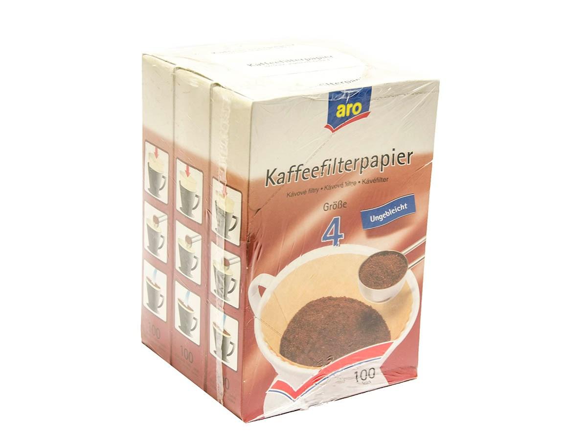 Filtre na kávu veľkosť 4 ARO 3x100 ks