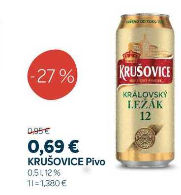 KRUŠOVICE Pivo 0,5 1,12%