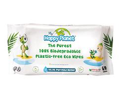 Happy Planet Eco vlhčené obrúsky 100% rozložiteľné 60ks