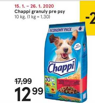 Chappi granuly pre psy, 10 kg