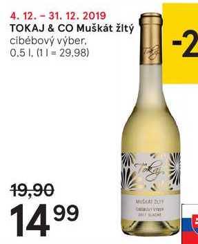 TOKAJ & CO Muškát žltý, 0,5 l