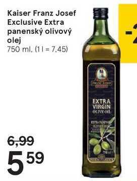 Kaiser Franz Josef Exclusive Extra panenský olivový olej, 750 ml