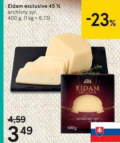 Eidam exclusive 45 %, 400 g