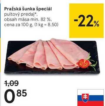 Pražská šunka špeciál, 100 g
