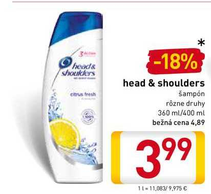 Head & Shoulders  400 ml