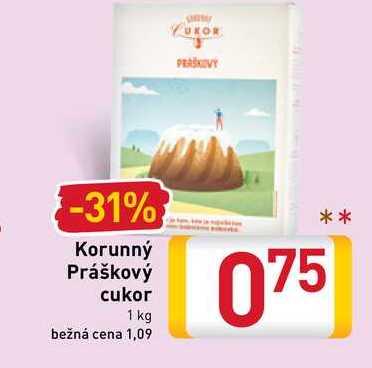 Korunný Práškový cukor 1 kg