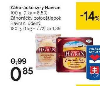 Záhorácke syry Havran, 100 g