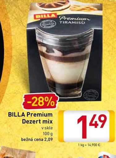 Billa Premium Dezert mix 100 g