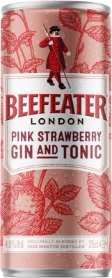 Beefeater Pink Strawberry Gin & Tonic 4,9% 0,25 L