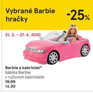 Barbie a kabriolet