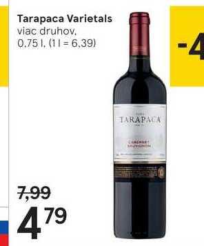 Tarapaca Varietals, 0,75 l