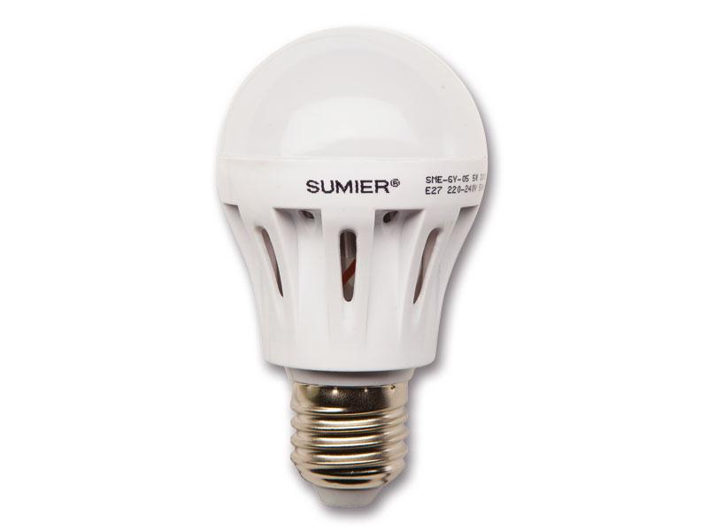 LED žiarovka 7W E27, 560lm, teplá biela