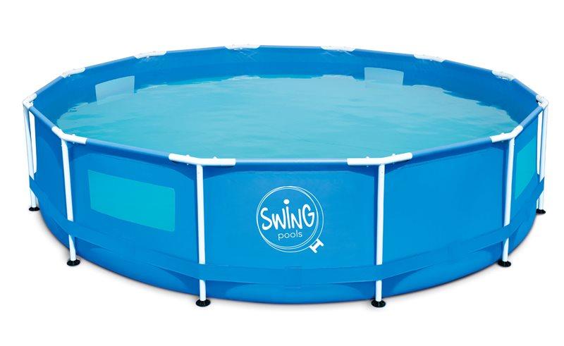 Bazén SWING 3,05x0,76m s oknom, pevný rám