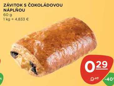 ZÁVITOK S ČOKOLÁDOVOU NÁPLŇOU 60 g