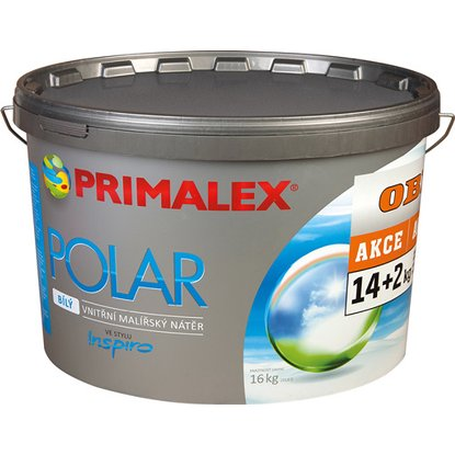Primalex Polar biela farba 14 kg + 2 kg
