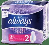 Platinum hygienické vložky Ultra Super Plus, 7 ks