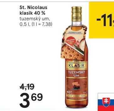 St. Nicolaus klasik 40 %, 0,5 l